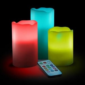 Remote Color Changing Electric Candle (Wax Body) gd24