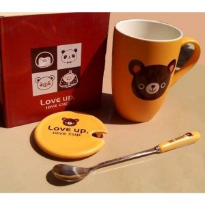 Love Bear Coffee Mug with Spoon kt30