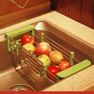 Stainless Steel Adjustable Telescopic Kitchen Over Sink Tray kt33