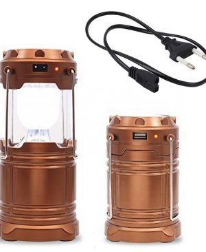 Rechargeable Solar Camping lamp + USB power bank  gd34