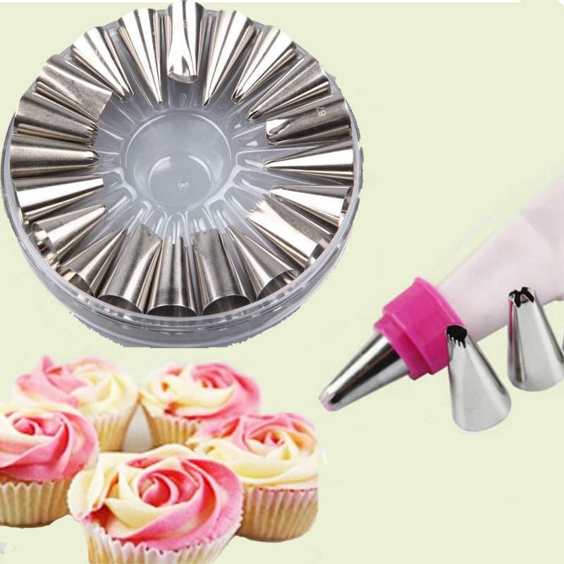 20 pc Cake Decorating Nozzle set+cotton bag kt507 ...