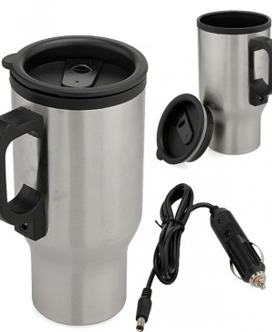 Electric Travel Coffee Cup with Car Adapter GD151