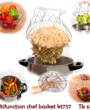 Stainless Steel Multifunction Chef Basket kt757