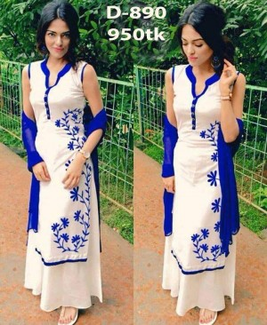 womens dress 3pc block printed D-890