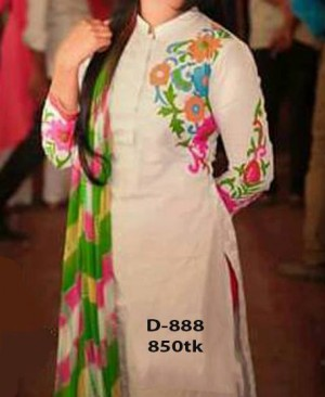 womens dress 3pc block printed D-888