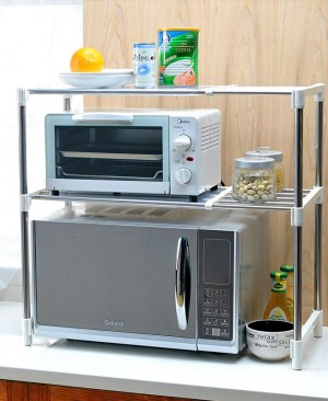 Microwave oven storage rack gd850