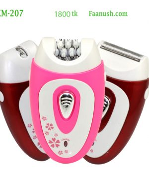 kemei epilator electric shaver for female with shaving knife   km207