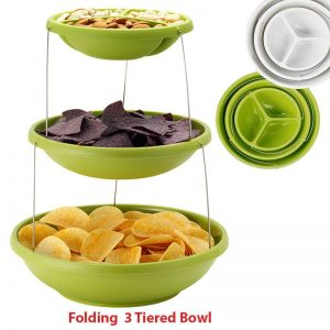 Folding 3 tiered bowl